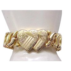 Superb Double Heart Sweetheart Expansion Bracelet