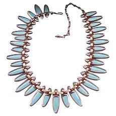 Matisse Nefertiti Copper, Enamel Necklace, Bracelet, Earrings