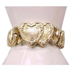 Double Heart Sweetheart Expansion Bracelet - 1946