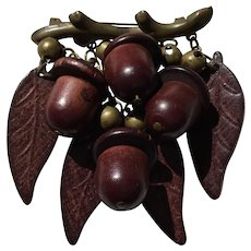 Best Ever Wood Acorn Pin