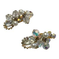 Juliana Ear Climber Earrings - Clips - Crystals and Rhinestones