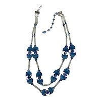 Spectacular Hobe' Necklace, Earrings Shades of Blue