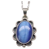Sterling Silver Pendant with Blue Center - Gorgeous