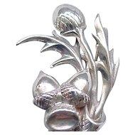 Delightful Sterling Acorn Pin