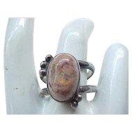 Huge Boulder Opal Ring Sterling Silver - Size 11