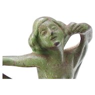 Magnificent Hubley Nude Bookends - Dancers with Scarves