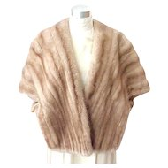 Beautiful Mink Stole McCurdy's  - Size Small - Medium Shade of Brown