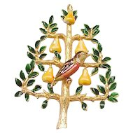 02- Lovely Cadoro Partridge in Pear Tree Holiday Pin