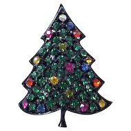 01 - Colorful Hedison Christmas Tree Pin - Japanned