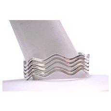 Spectacular Sterling Silver Wave Bracelet - 49 grams