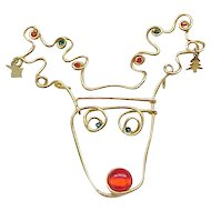 12 - Humorous Rudolph the Reindeer Holiday Pin