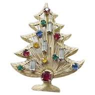 Candle Tree Christmas Pin - Brooks