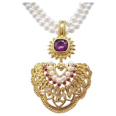 Shaill Jhaveri Necklace, Earrings for Avon Elizabeth Taylor