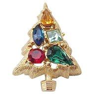 Pretty Christmas Tree Pin - Unusual
