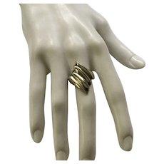 Modernist Sterling Ring Size 8 1/2