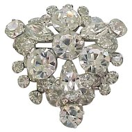 Sparkling Juliana Diamante Rhinestone Brooch Pin