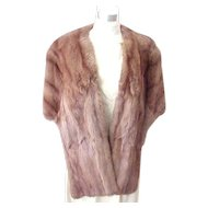 Very Soft Female Mink Stole - Small/Medium
