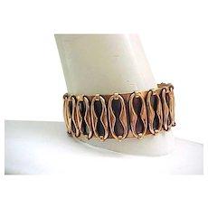 Attractive Copper Renoir Cuff Bracelet - Espana