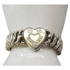 Pitman & Keeler Sweetheart Expansion Bracelet - Sterling Base
