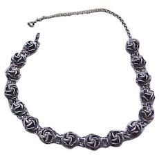 Superb Sterling Silver Rose Necklace -  66 Grams
