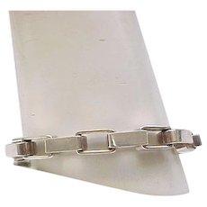 Unusual Sterling Bracelet - Rectangular Links