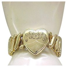 Large Sweetheart Expansion Bracelet - Heart Center