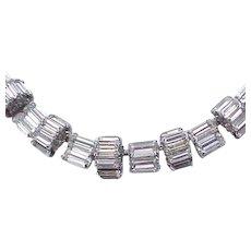 Glamorous Hattie Carnegie Rhinestone Necklace - Baguettes