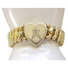 Lovely Sweetheart Expansion Bracelet - Fleur de lis