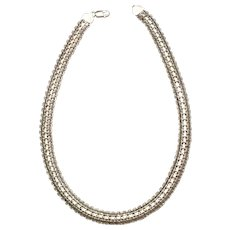Superb Sterling Necklace Italy