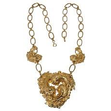 09 - Big, Fun Goldtone Necklace