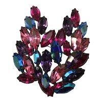 Incredible Regency Brooch - Luscious Colors