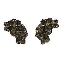 04 - Weiss Black Diamond Rhinestone Earrings