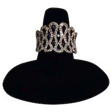 Very Rare Diamond and Sapphire EFFY Ring size 6 1/2