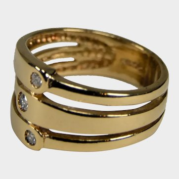 Stack Look 14K Yellow Gold Band Size 7 1/4