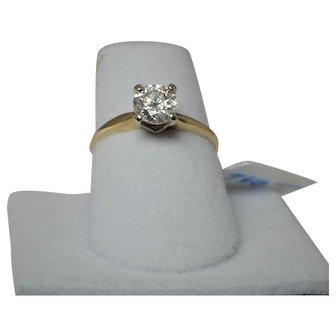 Vintage Diamond Solitaire  3/4 CT. Size 5.5