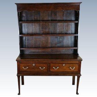 Superb Mid-18th C. Oak Cottage Dresser