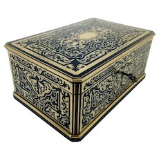 Superb Mid-19th C. French Boulle Box by Tahan, Paris
