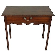 18th C Fruitwood Single Drawer Lowboy