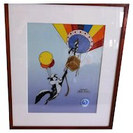 Ascent of Love Serigraph Approved By Chuck Jones 1997 Warner Bros