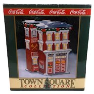 Coca Cola Town Square Christmas Village Collection - Station # 1 4 Firehouse