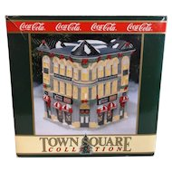 Coca-Cola Town Square Collectibles Drug Plaza House Lighted