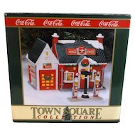VINTAGE Coca-Cola Town Square Collection Village Flying A Service Station