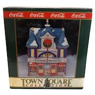 Vintage Coca Cola Town Square Collection Strand Theater Christmas Village