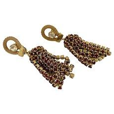Elegant Dangling Red Rhinestones Earrings!