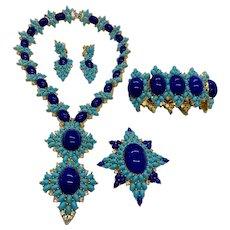 Astounding JOMAZ Parure in Cobalt Blue and Turquoise!