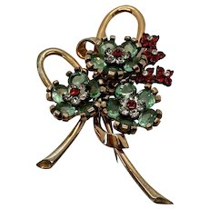 1940s PENNINO Sterling Silver Floral Brooch Pin