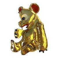 A Rare Bear Figural Fur Clip by MONET!