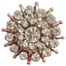Vintage Brilliant Rhinestone Pin / Brooch