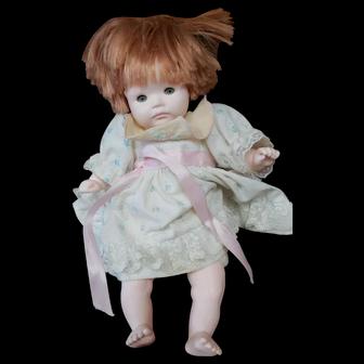 Vintage Pauline Bjonness Jacobsen Doll 11 inches  Marked PBJ No. 91984 Flowered dress