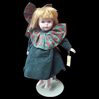 "14"" Vintage Porcelain Doll Mann Doll Collectors Guild"